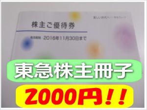 東京急行(東急)電鉄株主優待冊子